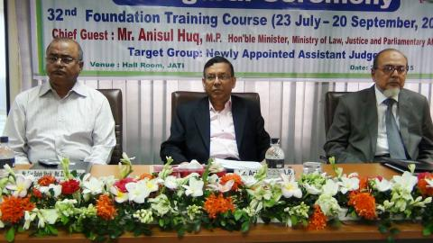 At the inaugural ceremony of a training course